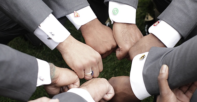 Photo of Men With Custom Cufflinks
