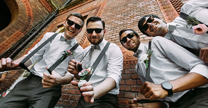 Groomsmen in a Group